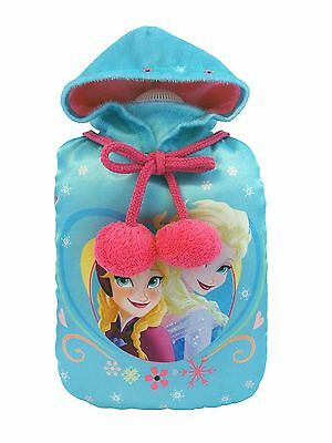 Genuine Disney Frozen Anna and Elsa Small Hot Water Bottle and Fleece Cover Gift