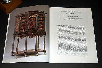 IMPORTANT FRENCH FURNITURE & CLOCKS Sotheby's Auction Sale Catalogue 15/6/1990