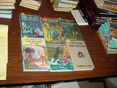 Early Brown Paper Version Hardy Boys Books 17-20, 22, 24 A BARGAIN