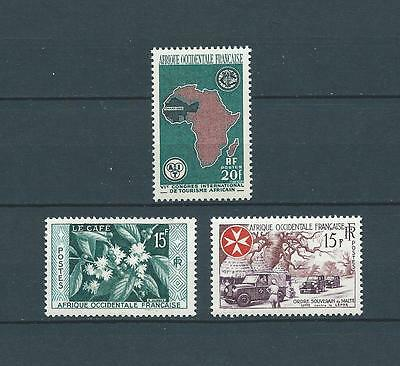 AOF - 1956-58 YT 62 à 64 - TIMBRES NEUFS** LUXE