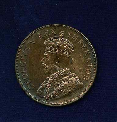 South Africa  George V  1936   1 Penny Coin,  Uncirculated