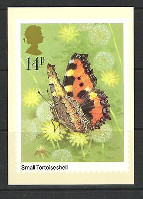 British Stampcards PHQ used set 51 Butterflies 1981