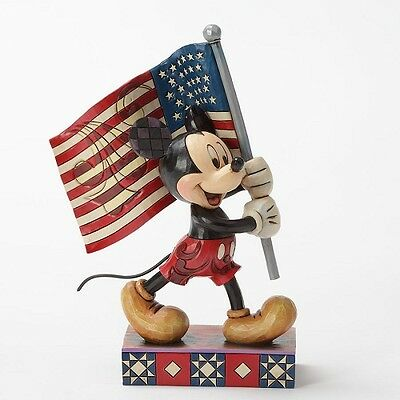 Mickey Mouse with Flag Disney Jim Shore figure 4032875 NEW Patriotic Old Glory
