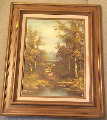 Outstanding Rare Find Vintage Abstract Oil On Canvas - Signed By Artist.