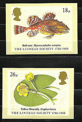 PHQ cards used set 107 Linnean 1988