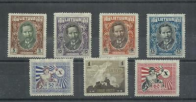 Lithuania Tenth Anniversary of Independence Issue 1928 Sc 226-232 Mi 281-287