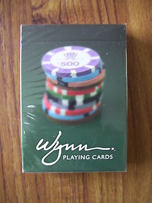 Rare Wynn Casino Deck Of Sealed Poker Playing Cards.(New & Mint).