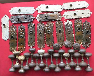 "Large Lot Of 67 Matching Pieces P & F Corbin Doorknobs + Backplates ""Holland"" Pa"
