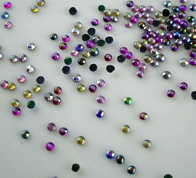 SS6 Hotfix colorful AB 1.6mm glass Crystal Multiple facet Flat Back Rhinestones