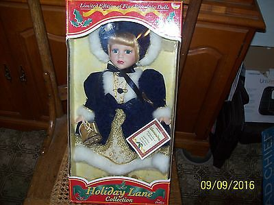 Holiday Lane Collection Alexandra Porcelain Doll New In Box 2002 Dollex