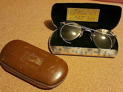 Vintage American Optical Prescription glasses with case +extra case.