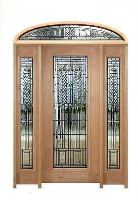 Arts And Craft Stickley Style Leaded Hand Cut Estate Doorway - Stained Glass