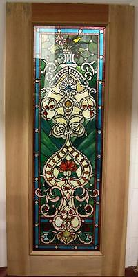 Beautiful Cut Stained Glass  Mahogany Entry Door