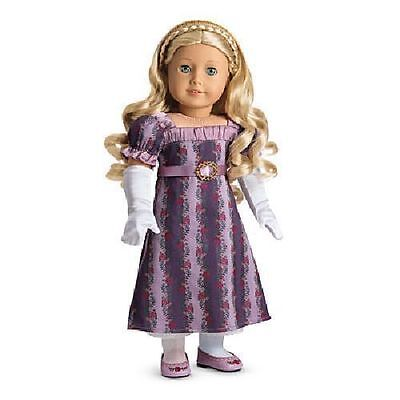 New American Girl Caroline's Holiday Gown Outfit NIB Gloves Shoes Dress
