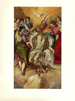 "1950 Vintage EL GRECO /""ST KING OF FRANCE/"" GREAT COLOR offset Lithograph LOUIS"