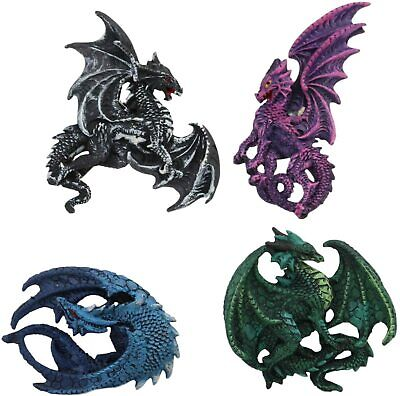 Ruth Thompson Myths And Legends Set of 4 Dragon Refrigerator Magnets Figurines