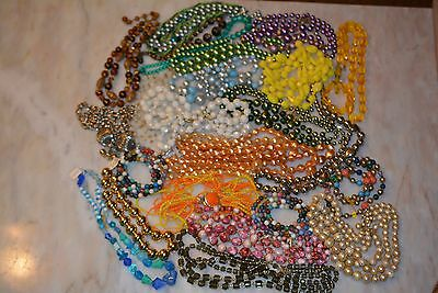 Vintage  Art Deco Jewelry Lucite Plastic Mixed Necklace Lot of 24