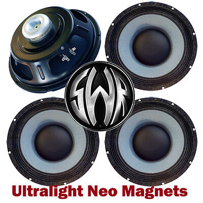 """4 pack 10"""" Neo Magnet 4Ohm Eminence SWR Golight Bass Guitar Speakers Made in US"""