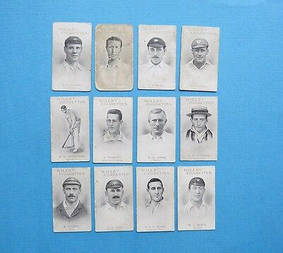 1911 - Wills (Capstan) - Australian & English Cricketers (12 Card Bundle)