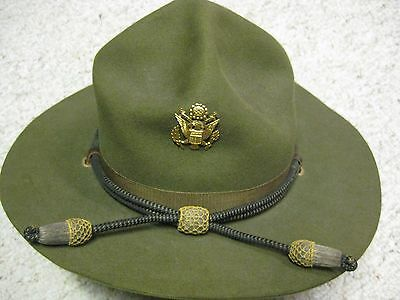 Nr Unused Pre Wwii 1928 Us Army Officer Campaign Hat Nice Qm Q.m. Stamp & Label