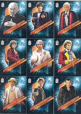 Topps 2016 Doctor Who Timeless Doctors Across Time card SET of 13 chase cards!