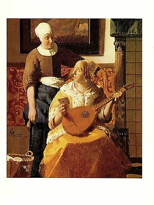 """1981 Vintage VERMEER /""""THE MILKMAID/"""" GORGEOUS COLOR offset Lithograph"""