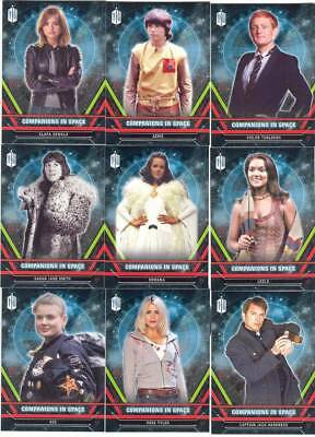 Doctor Who Extraterrestrial Encounters Companions In Space card SET of 12 cards!