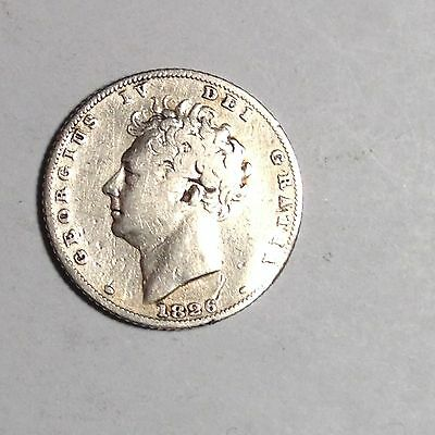 Scarce! 1826 Sixpence George Iv Great Britain - Very Nice!! Must Take A Look!!