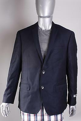 $99 DKNY Men's Two-button Classic Jacket 44R Wool Navy NEW