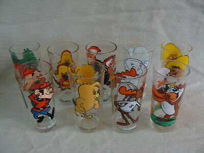 Pepsi Collector Series Looney Toons 9 Glasses, 1973-76 & More