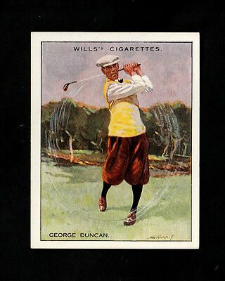 "Wills 1930 Superb Scarce Golf Card "" # 4 George Duncan -- Famous Golfers """