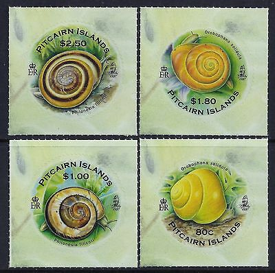 2010 Pitcairn Islands Endemic Snails Set Of 4 Fine Mint Mnh/muh Self Adhesive