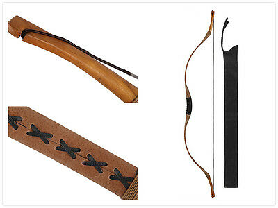 Horsebow Archery Traditional Hunting Longbow Pigskin Recurve Longbow Bag 45#
