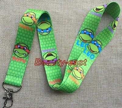 Lot Green Turtles Cartoon Neck Strap Lanyards Mobile Phone Key Chain L415