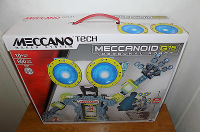 Meccano MeccaNoid G15 Personal Robot Build & Play 600 Pieces 15401 - BRAND NEW