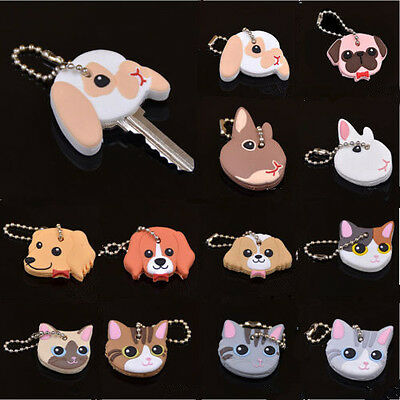 Key Ring 1 Pc Silicone Cap Head Cover Keychain Case Shell Animals Shape Lovely