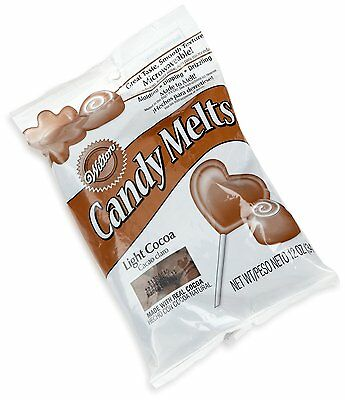 Wilton Light Cocoa Candy Melts 12oz Microwaveable Molding/Dipping/Drizzling New