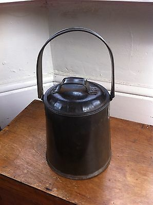 LARGE  DECORATIVE EDWARDIAN TINWARE MILK CAN 10.5 inches