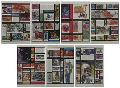 Complete Set Of 7 Large Original GPO Royal Mail Posters Transport Michael Heslop