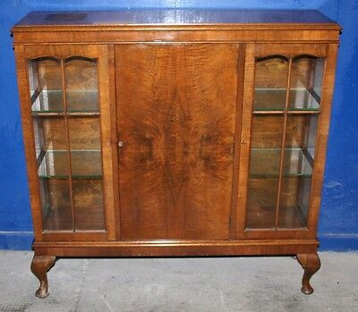~ Quality ~Antique ~Queen Anne ~Burr Walnut? ~Display Cabinet ~Sideboard ~VGC~