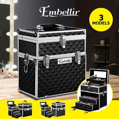 Portable Beauty Cases Bags Makeup Case Box Organiser Case Christmas Gift