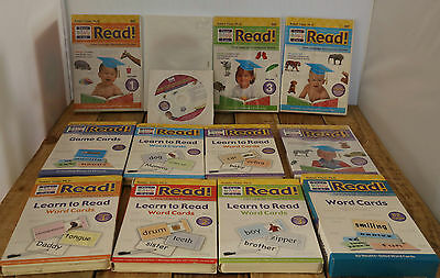 Your Baby Can Read Vol. 1-3 DVD's & Cards + Extras
