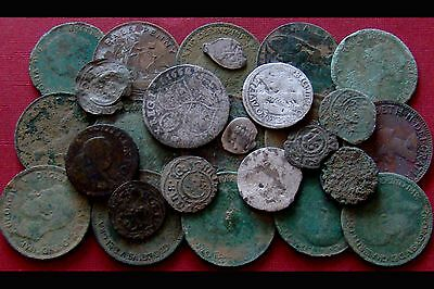 Old Coins - metal detecting finds