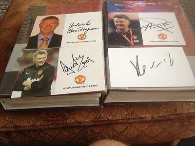 Manchester United Signed Club Card