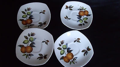 4 X Vintage Midwinter Staffordshire England Saucers Spares