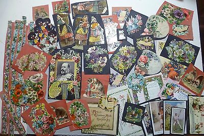 A mixed lot of scraps from a childrens' vintage scrap book