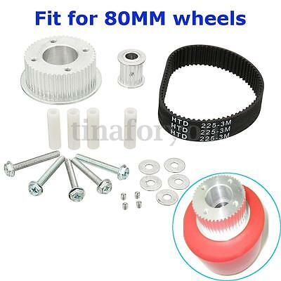 17pcs Drive Kit Parts Pulley And Motor Mount For 80MM Wheels Electric Skateboard