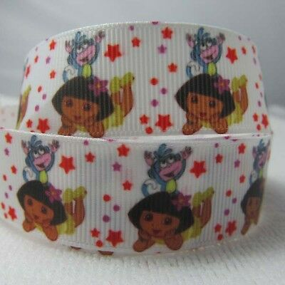 "New 5 Yards 7/8"" 22MM MIXED Girl& FRIENDS  THE MONKEY Grosgrain Ribbon LOT 5X"