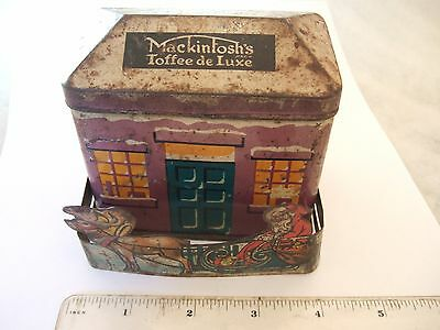 Vintage Mackintosh's de Lux Toffee Tin with Santa & Sleigh Pull Out Section