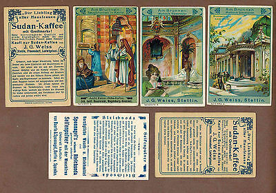 FOUNTAINS, WELLS: Complete Set of RARE Victorian Trade Cards (1900)